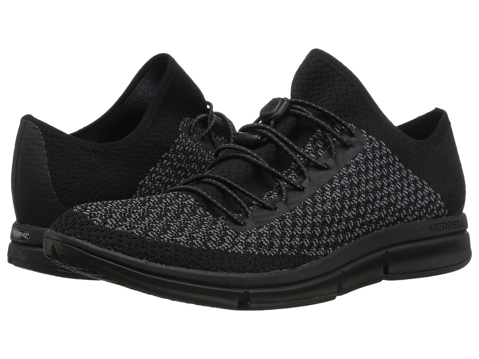 Merrell Zoe Sojourn Lace Knit Q2 (Black/Castlerock) Women's Shoes