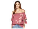 Vince Camuto Tiered Sleeve Chateau Floral Off-Shoulder Blouse