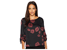 Vince Camuto Gathered Sleeve Boat Neck Chateau Floral Blouse