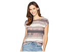 Vince Camuto Cap Sleeve Ancient Muses Blouse