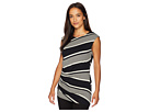 Vince Camuto Cap Sleeve Side Ruched Venue Stripe Top
