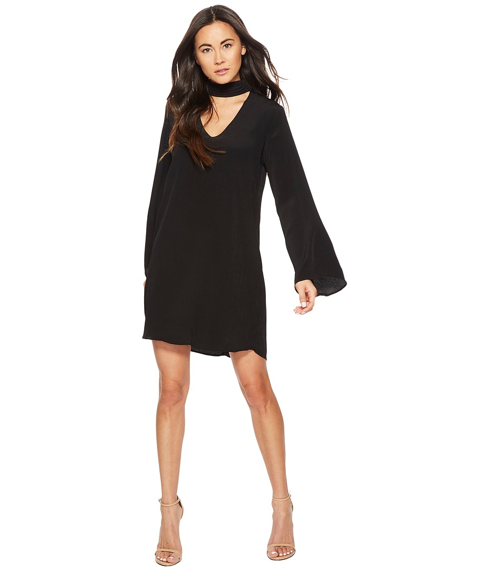 American Rose - Brin Long Sleeve Keyhole Dress