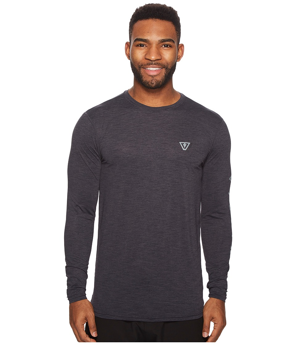 VISSLA - Alltime Long Sleeve Heathered Surf Tee UPF 50 (Phantom Heather) Mens Long Sleeve Pullover
