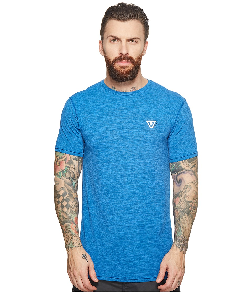 VISSLA - Alltime Short Sleeve Heathered Surf Tee UPF 50 (Royal Heather) Mens Short Sleeve Pullover