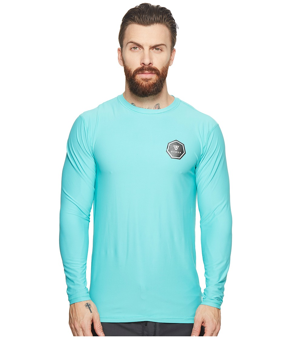 VISSLA - Everyday L/S Surf Shirt (Jade) Mens Swimwear