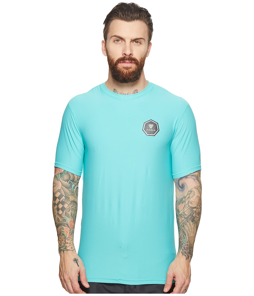 VISSLA - Everyday S/S Surf Shirt (Jade) Mens Swimwear