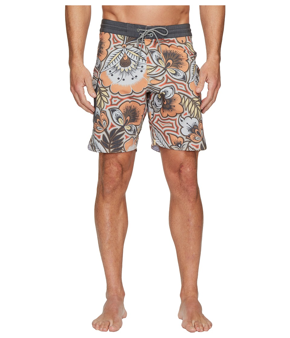 VISSLA Mongo Four-Way Stretch Boardshorts 18.5 (Citrus Orange) Men