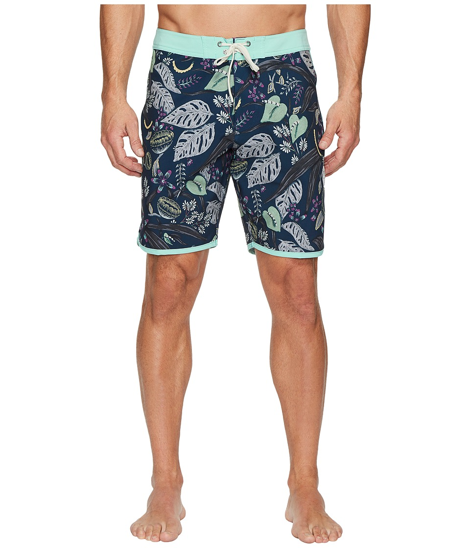 VISSLA Night Crawler Four-Way Stretch Boardshorts 18.5 (Dark Naval) Men