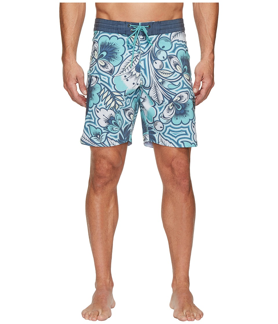 VISSLA Mongo Four-Way Stretch Boardshorts 18.5 (Jade) Men