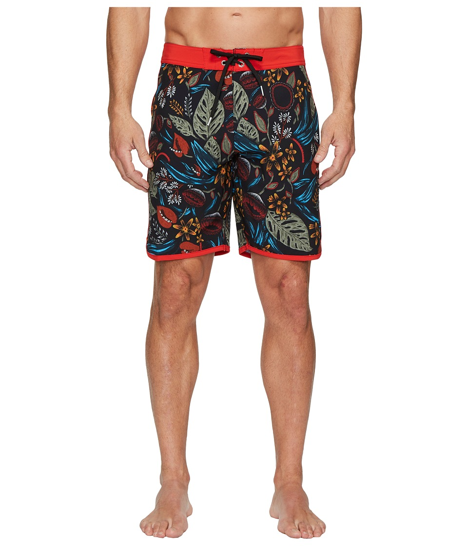 VISSLA Night Crawler Four-Way Stretch Boardshorts 18.5 (Black) Men