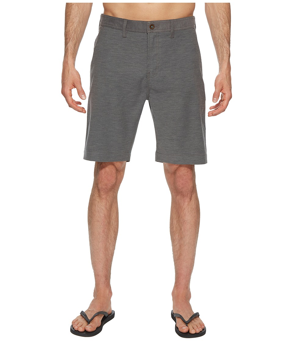 VISSLA - Boneyard Hybrid Walkshorts 20 (Charcoal Heather) Mens Shorts