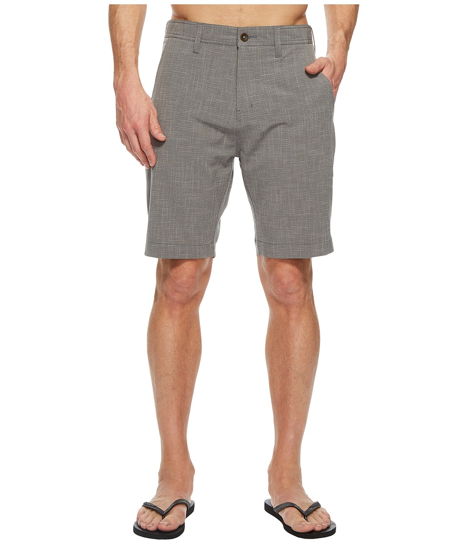 VISSLA - Fin Rope 4-Way Stretch Hybrid Walkshorts 20 (Gunmetal) Mens Shorts