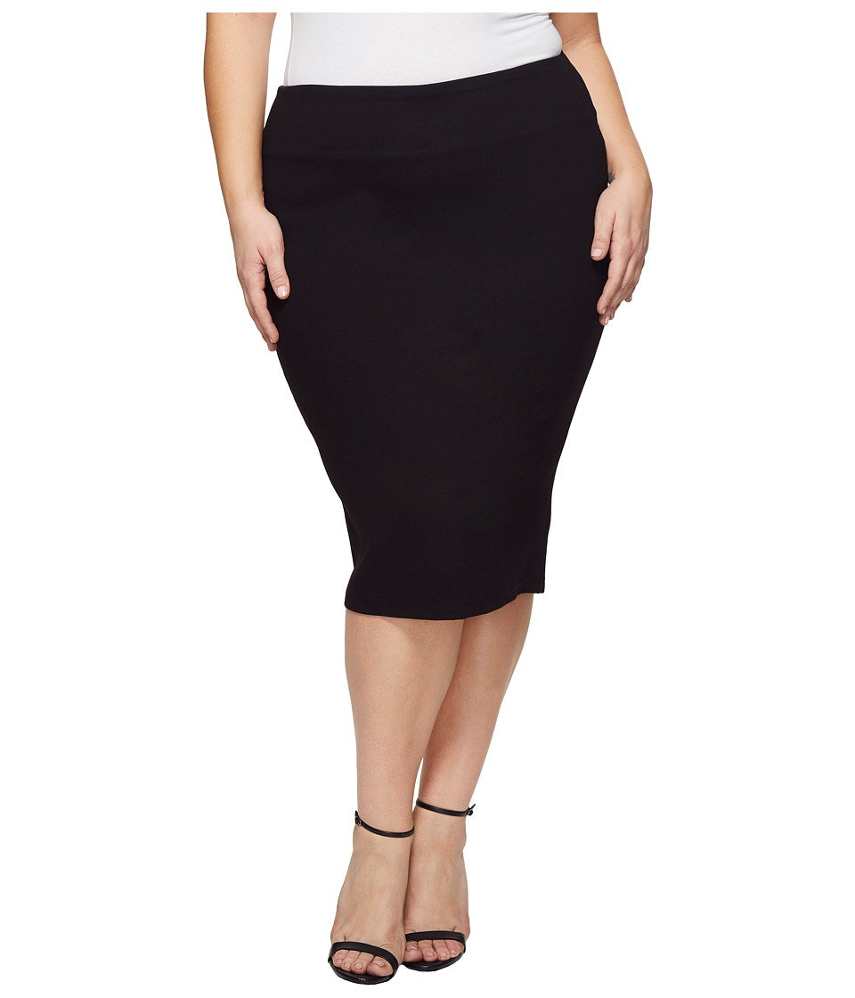 KARI LYN - Plus Size Marnie Pencil Skirt (Black) Womens Skirt
