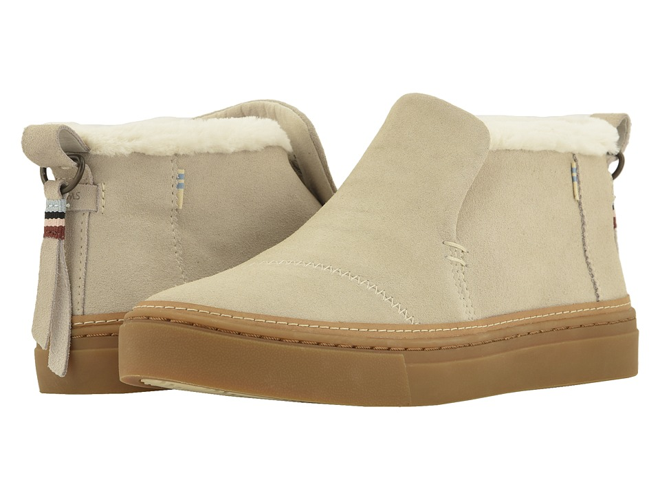 TOMS Paxton (Birch Suede/Faux Fur) Slip-On Shoes