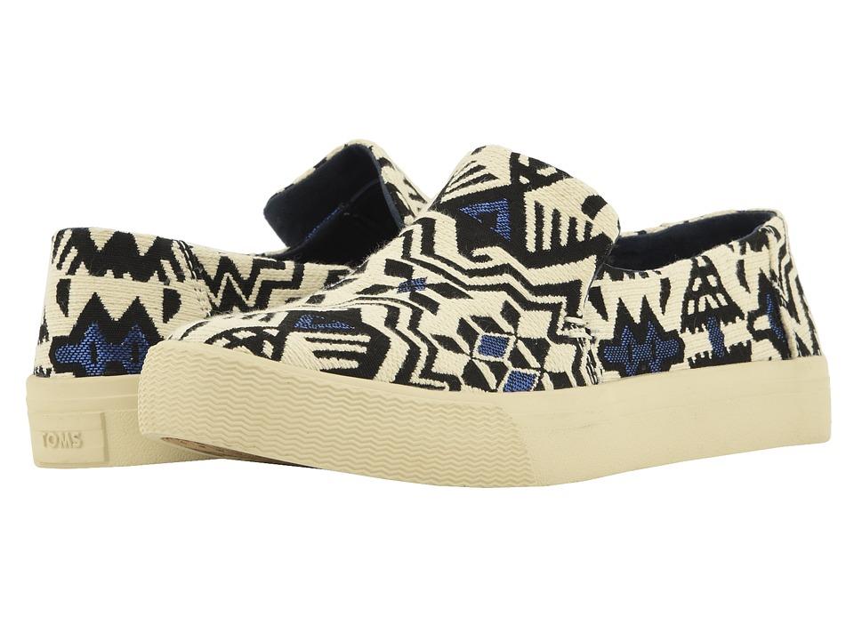 TOMS Sunset (Stellar Blue Metallic Jaquard) Slip-On Shoes