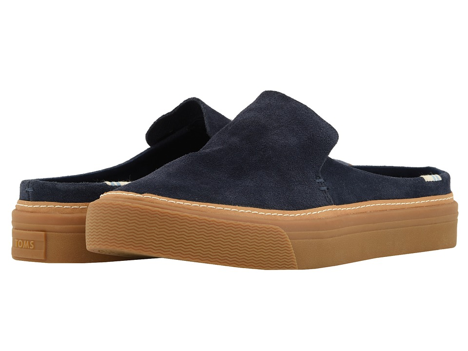 TOMS Sunrise (Navy Suede) Slip-On Shoes