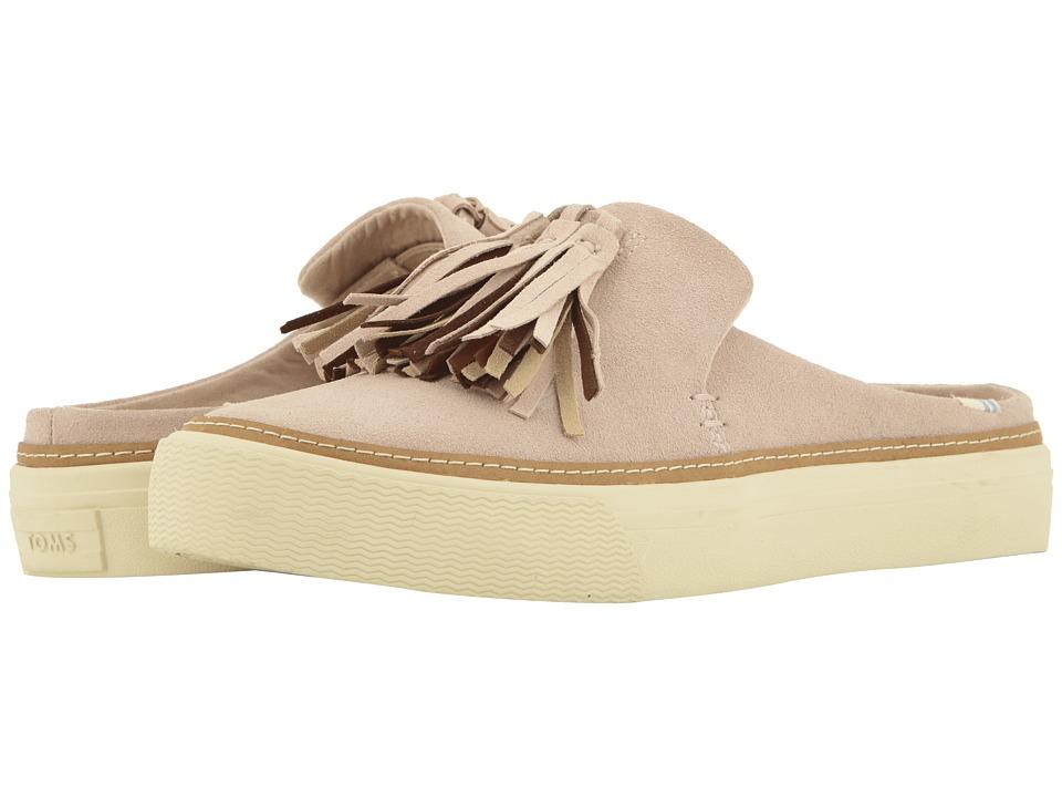 TOMS Sunrise (Blush Suede/Tassel) Slip-On Shoes