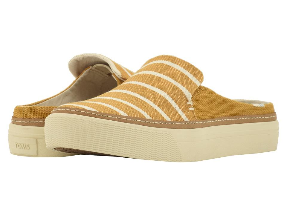 TOMS Sunrise (Sunflower Riviera Stripe) Slip-On Shoes