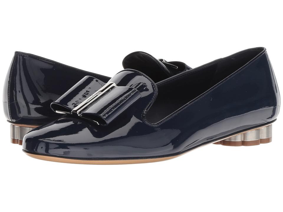 Salvatore Ferragamo Sarno (Patent Navy) Women's Shoes