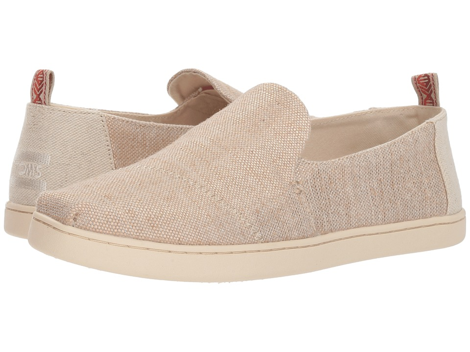 TOMS Deconstructed Alpargata (Rose Gold Metallic Woven) Slip-On Shoes