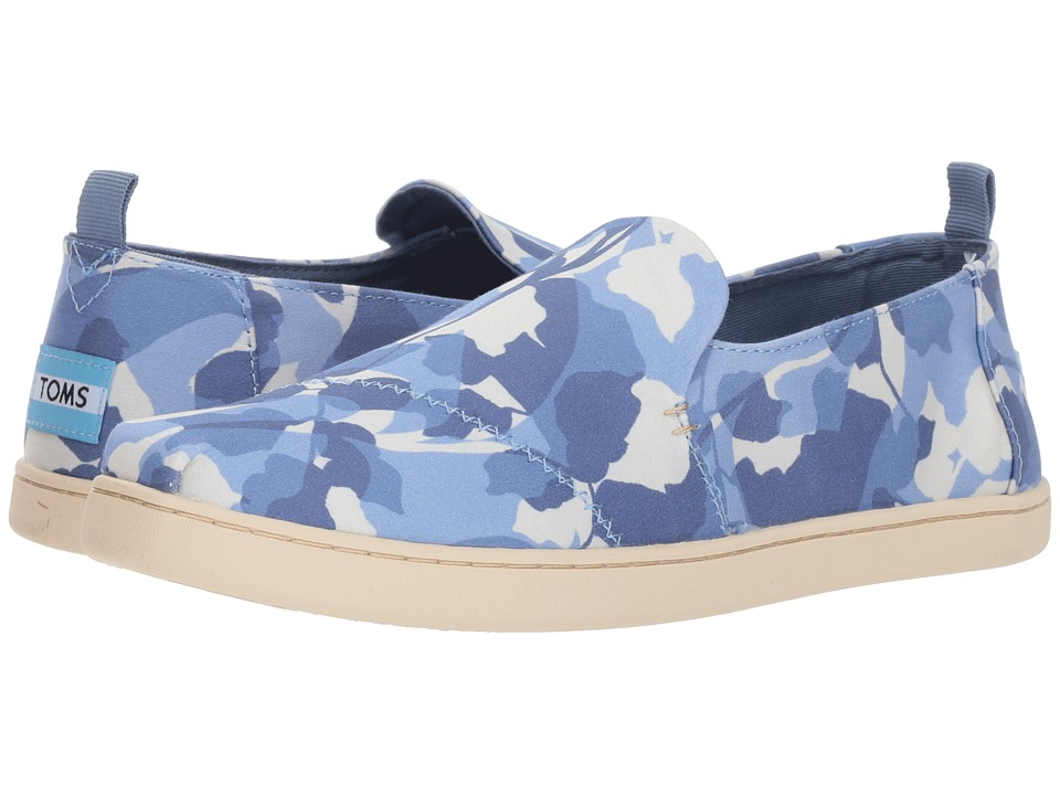 TOMS Deconstructed Alpargata (Infinity Blue Abstract Leaf) Slip-On Shoes