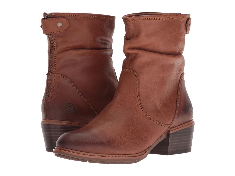 Timberland Sutherlin Bay Mid Back Zip Boot (Medium Brown Full Grain)