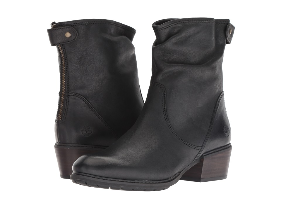 Timberland Sutherlin Bay Mid Back Zip Boot (Black Full Grain)