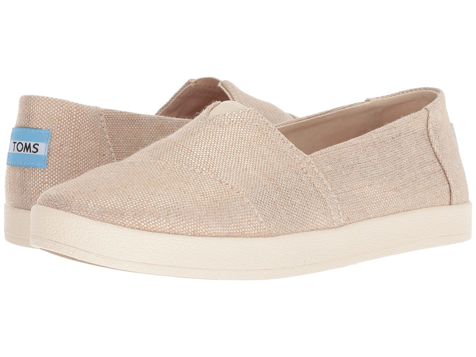TOMS Avalon (Rose Gold Metallic Woven) Women's Shoes
