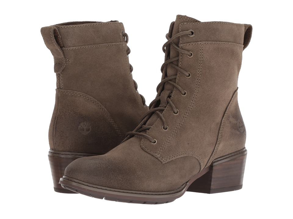 Timberland Sutherlin Bay Mid Lace Boot (Olive Suede) Women's Lace-up Boots