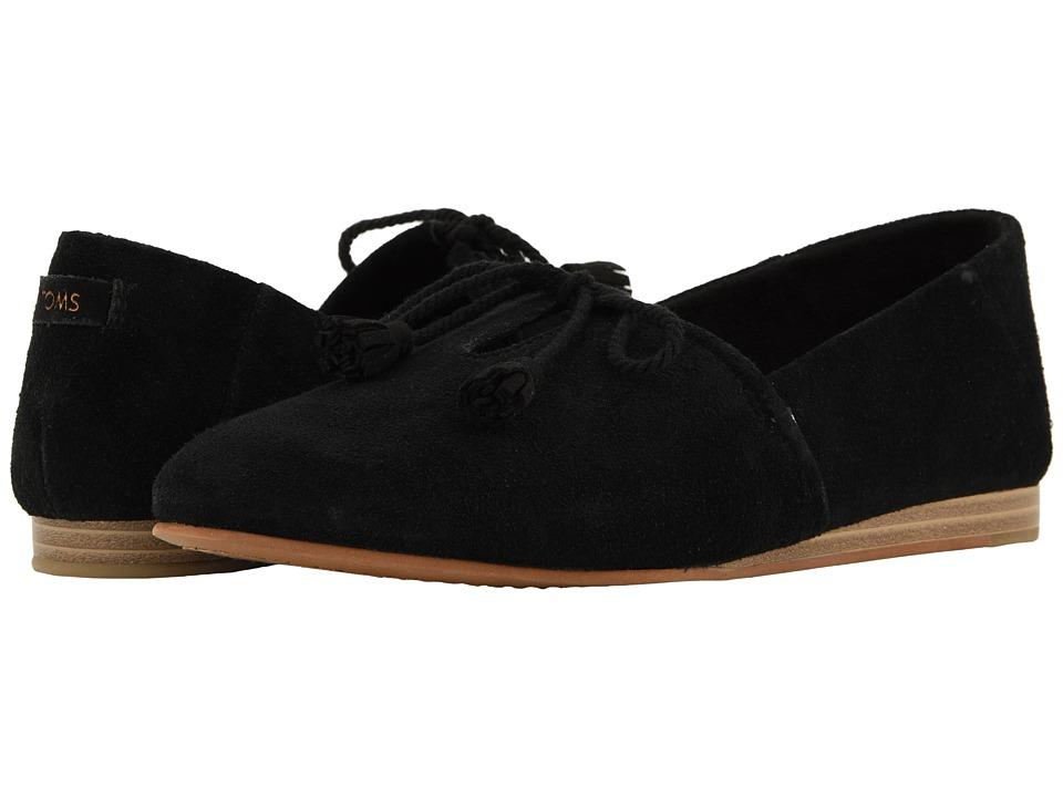 TOMS Kelli (Black Suede) Slip-On Shoes