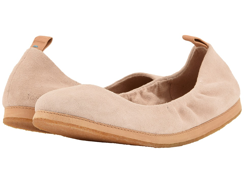 TOMS Olivia (Blush Suede) Flats