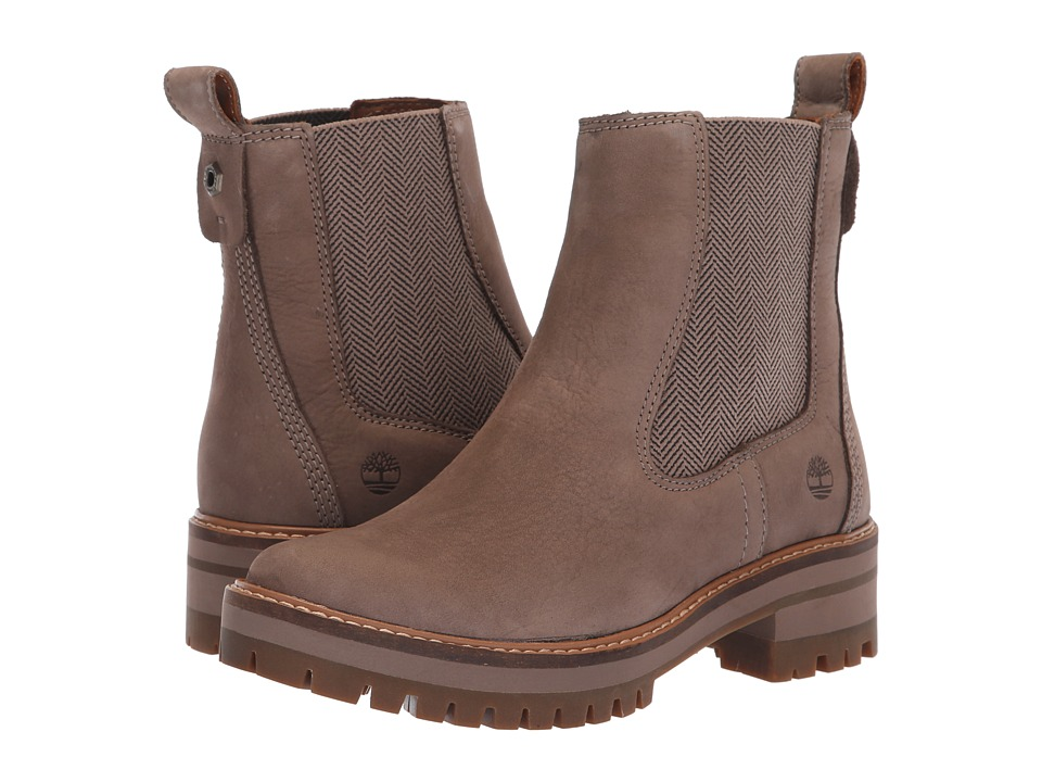 Timberland Courmayeur Valley Chelsea (Medium Grey Nubuck) Women's Pull-on Boots
