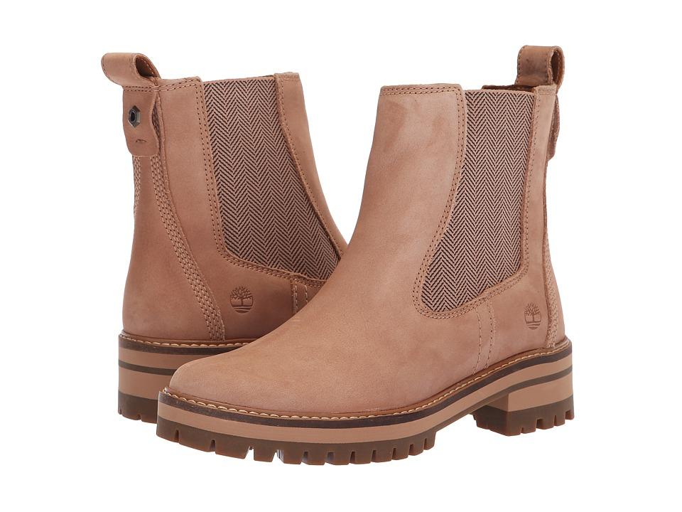 Timberland Courmayeur Valley Chelsea (Medium Beige Nubuck) Women's Pull-on Boots