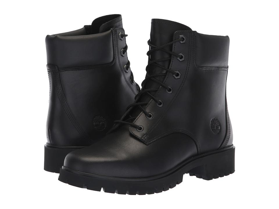 Timberland Jayne 6 Waterproof Boot (Black Full Grain) Women's Lace-up Boots