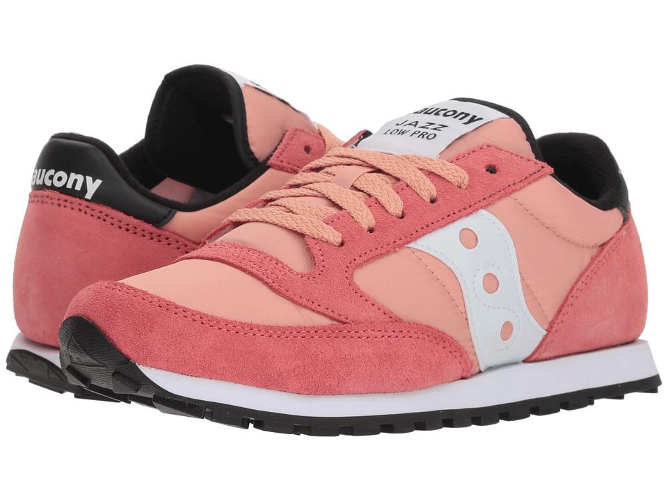 Saucony Originals Jazz Low Pro (Coral/White 1) Women's Classic Shoes