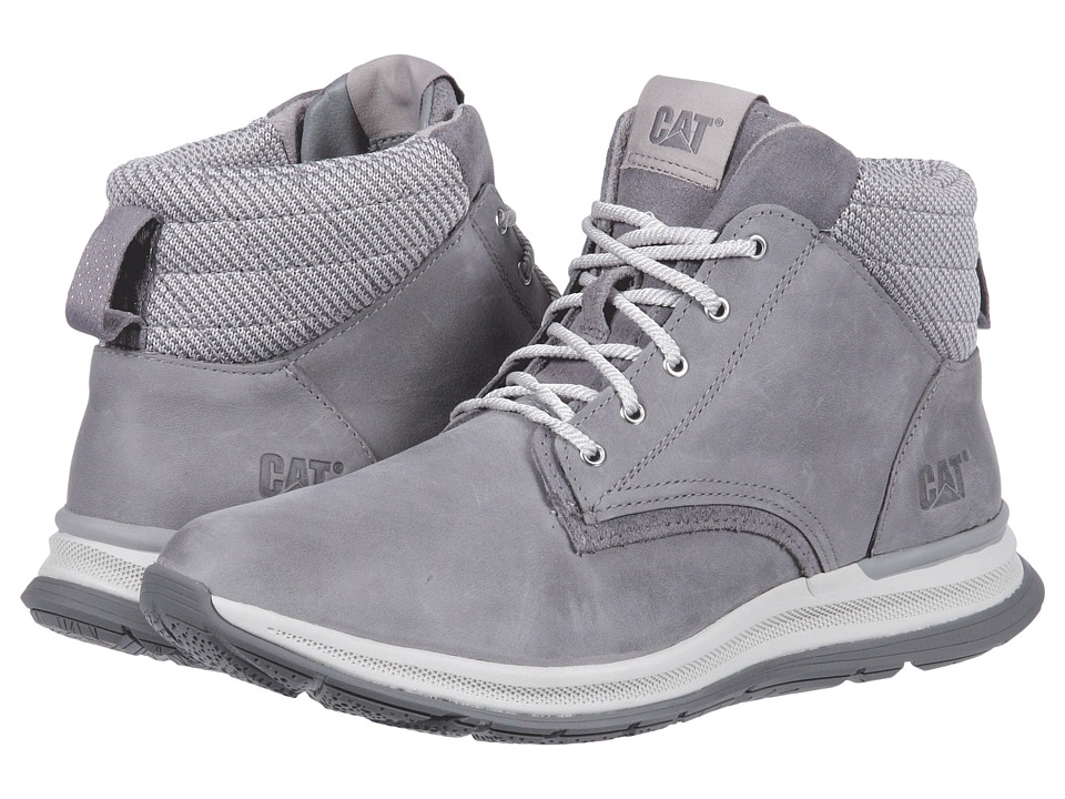 Caterpillar Casual Starstruck (Light Grey Leather/Suede/Knit) Women's Shoes
