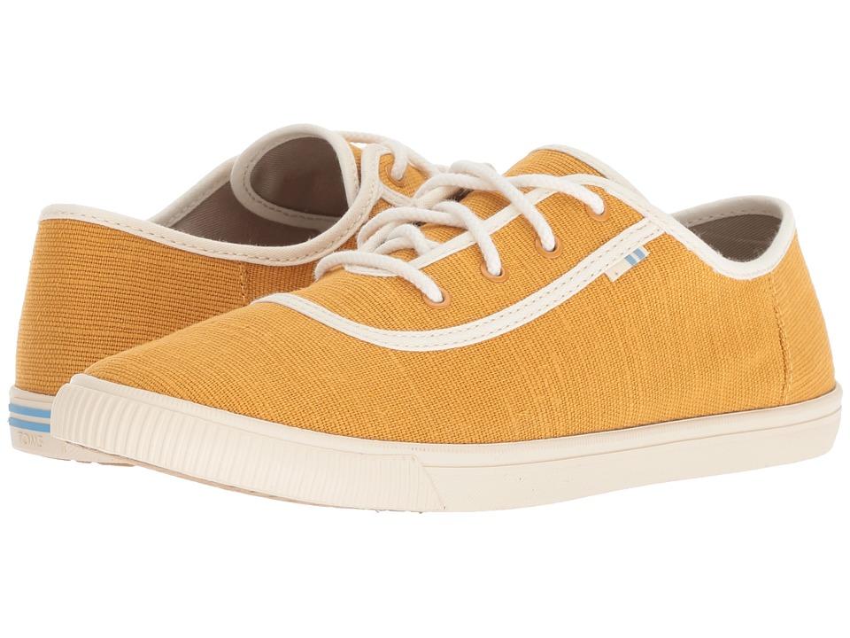 Vintage Style Shoes, Vintage Inspired Shoes TOMS Carmel Sunflower Heritage Canvas Womens Slip on  Shoes $49.95 AT vintagedancer.com