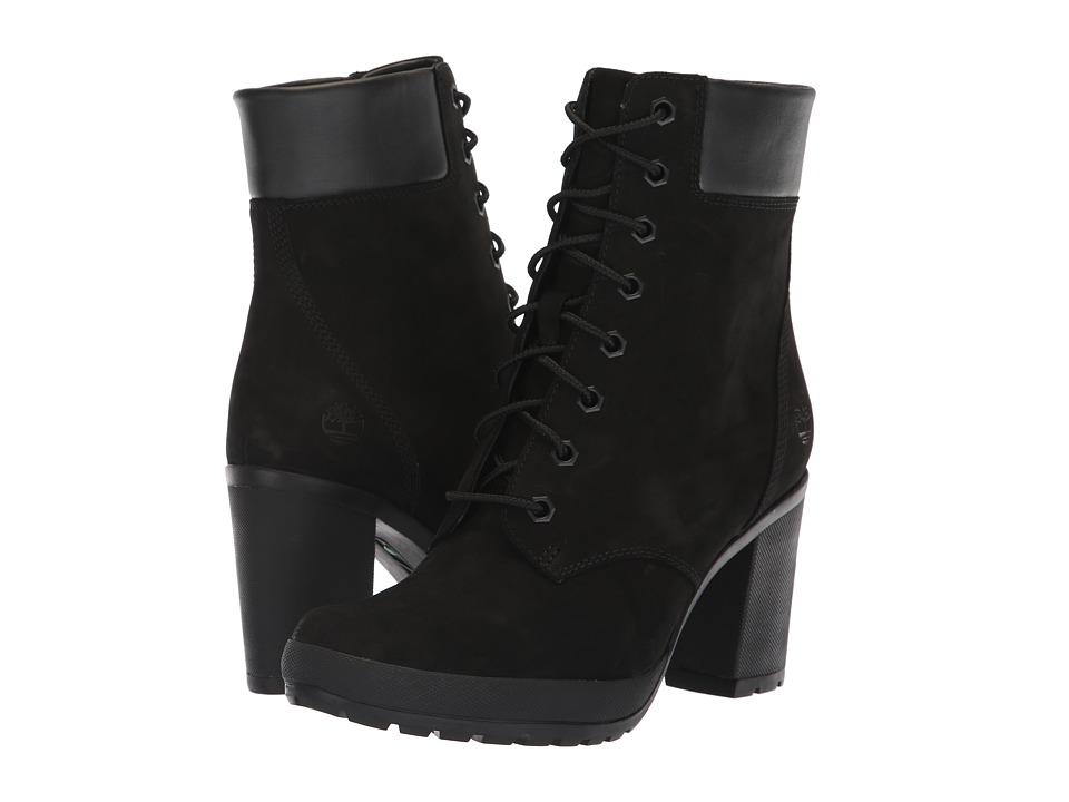 Timberland Camdale 6 Boot (Black Nubuck) Women's Lace-up Boots