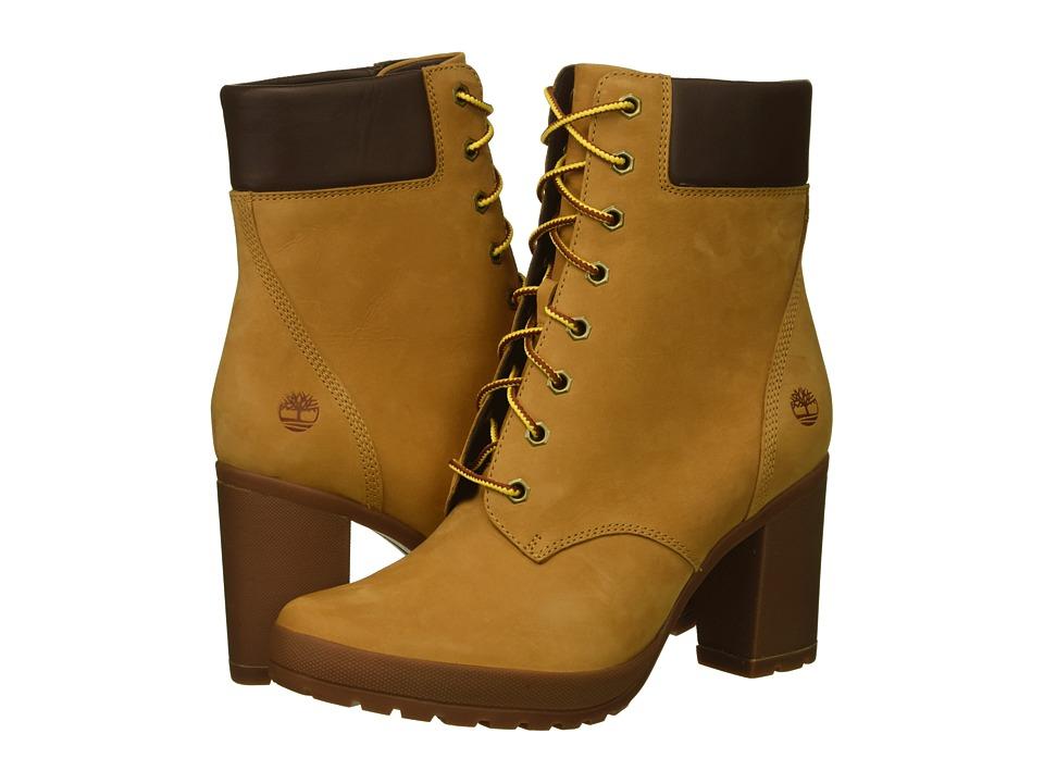 Timberland Camdale 6 Boot (Wheat Nubuck) Women's Lace-up Boots