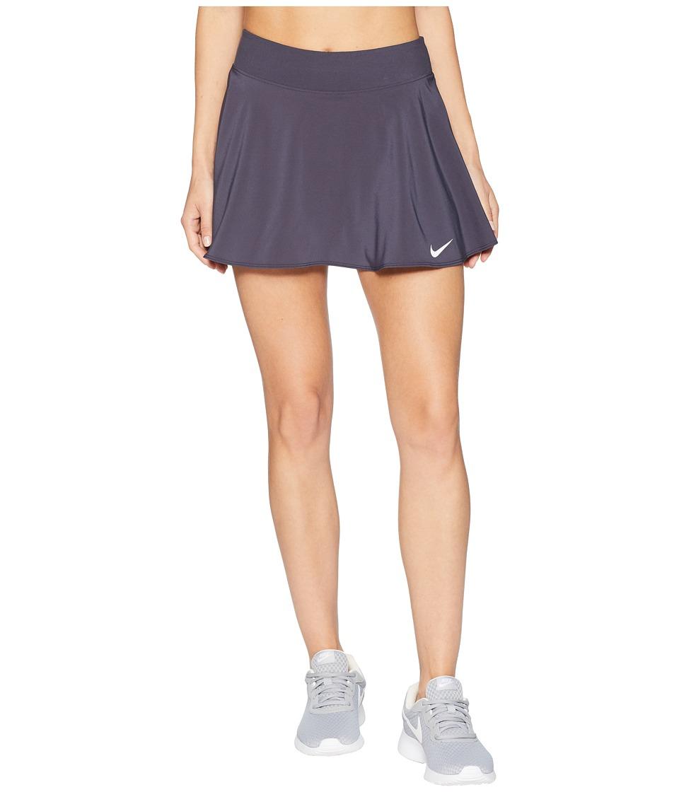 Nike Nike Court Flex Pure Tennis Skirt (Gridiron/White) Women