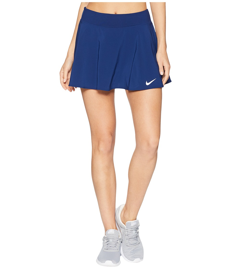 Nike Nike Court Flex Pure Tennis Skirt (Blue Void/White) Women
