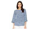 MICHAEL Michael Kors Collage Floral Flare Sleeve Top