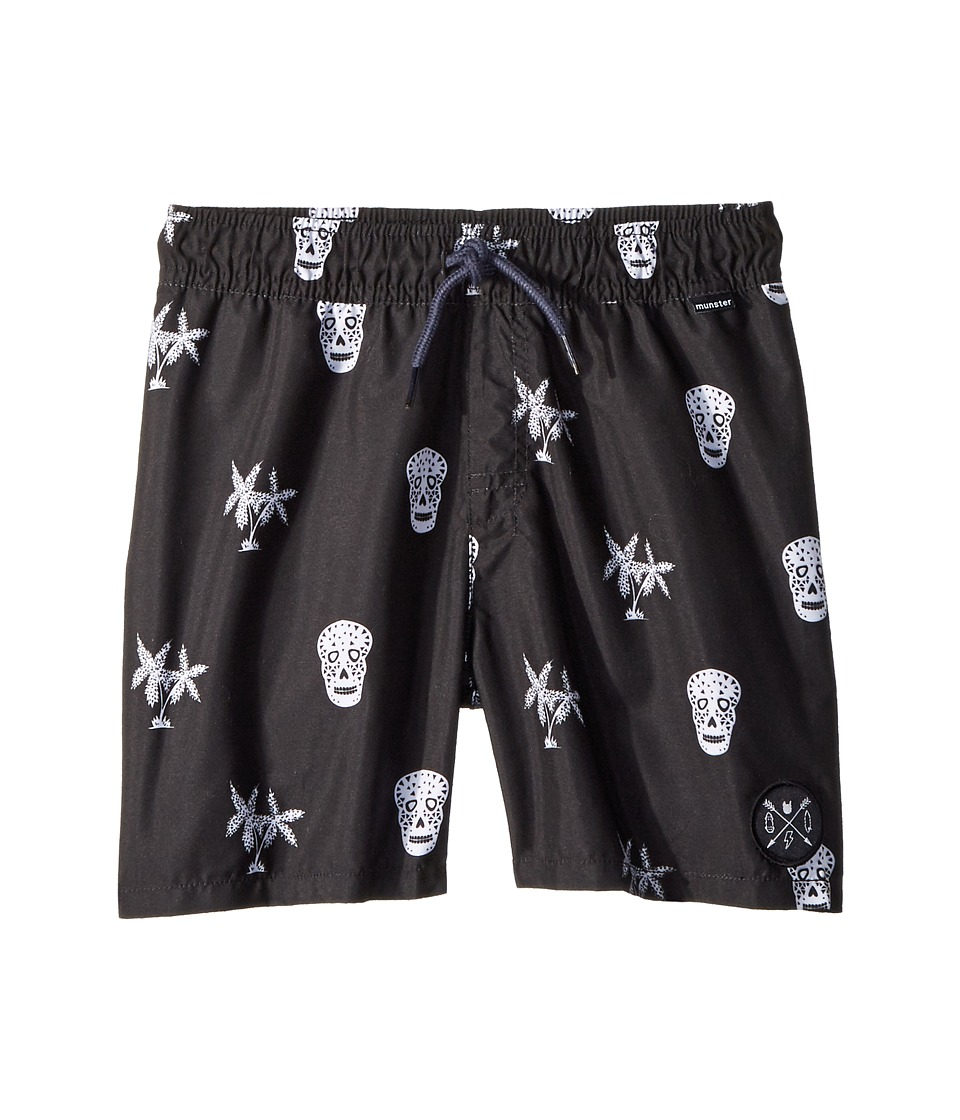 Munster Kids - Island Shorts (Toddler/Little Kids/Big Kids) (Black) Boys Swimwear