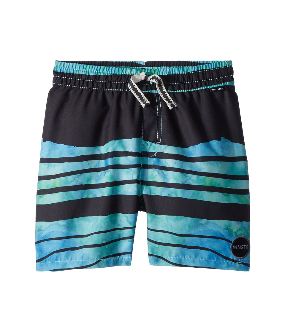 Munster Kids - Sand Lines Shorts (Toddler/Little Kids/Big Kids) (Blue) Boys Swimwear
