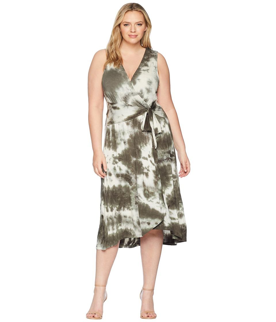 B Collection by Bobeau - Plus Size Rowan Wrap Dress (Oliv...