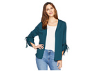 B Collection by Bobeau Nia Rouched Sleeve Knit Cardigan