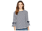 B Collection by Bobeau Brielle Striped French Terry Top