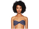 Jonathan Simkhai Striped Bandeau Twist Bikini Top