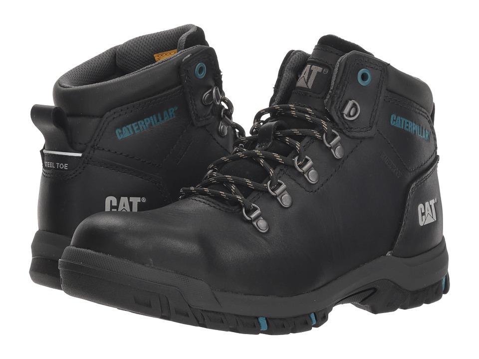 Caterpillar Mae Steel Toe WP (Black) Women's Work Boots