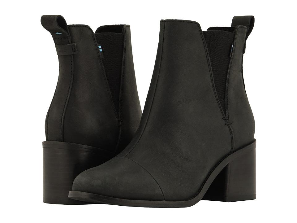 TOMS Esme (Black Leather)